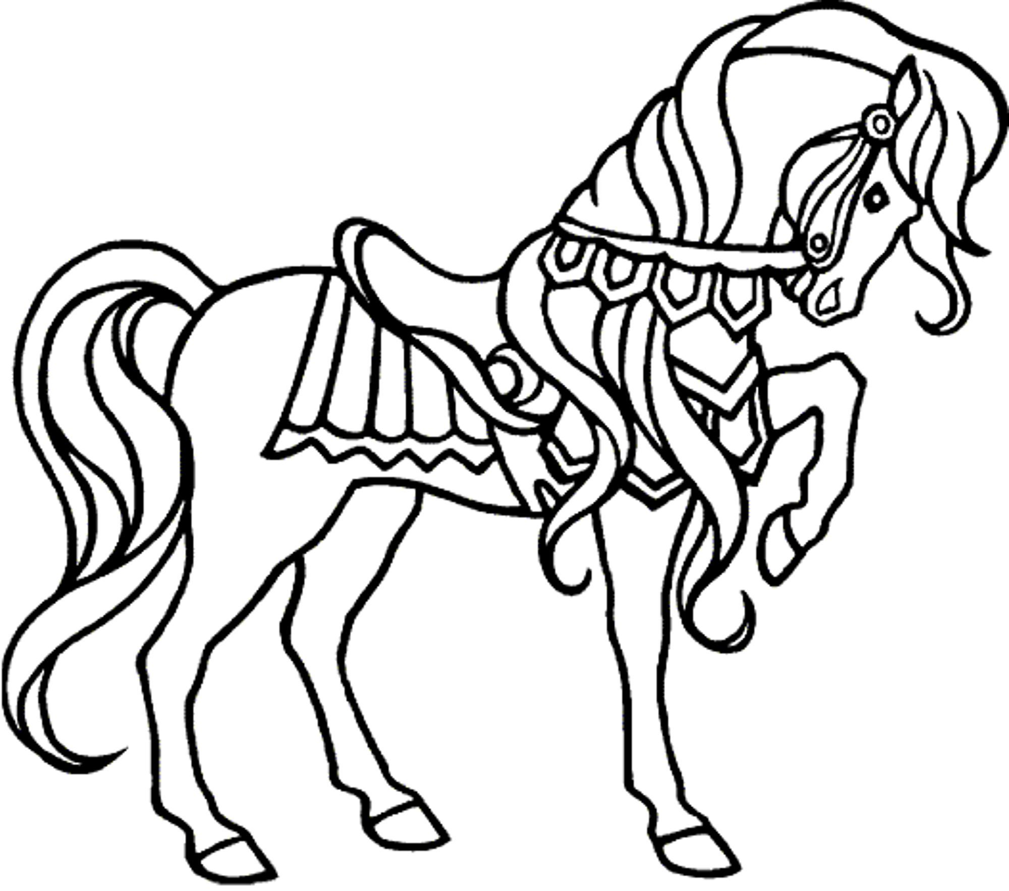 Free coloring horse pictures to print - Free Coloring Pages Of Horses Printable Kids Colouring Pages