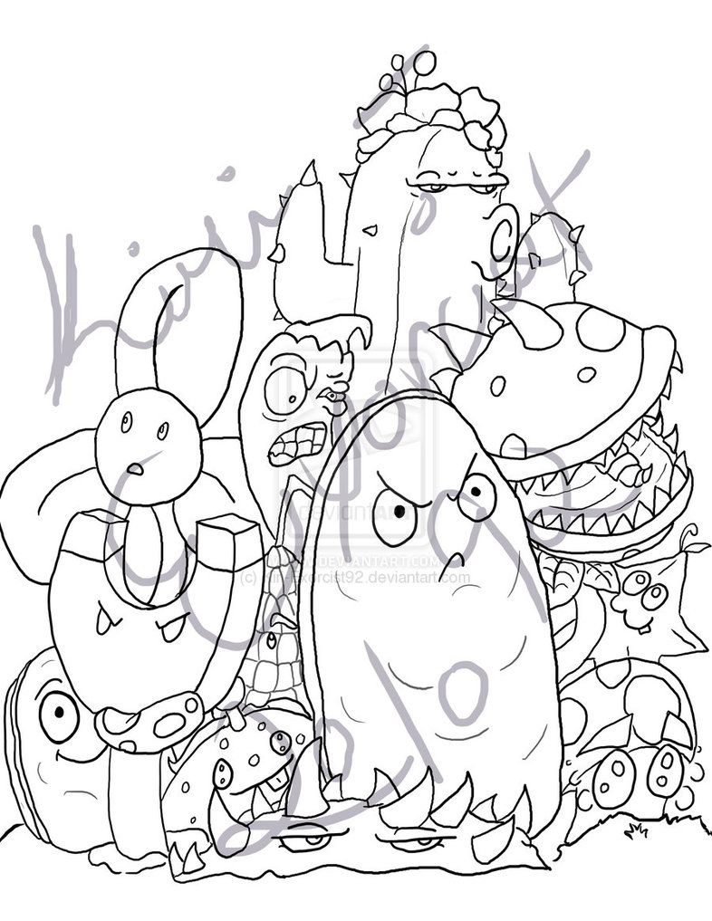 pvz garden warfare coloring pages - photo#8