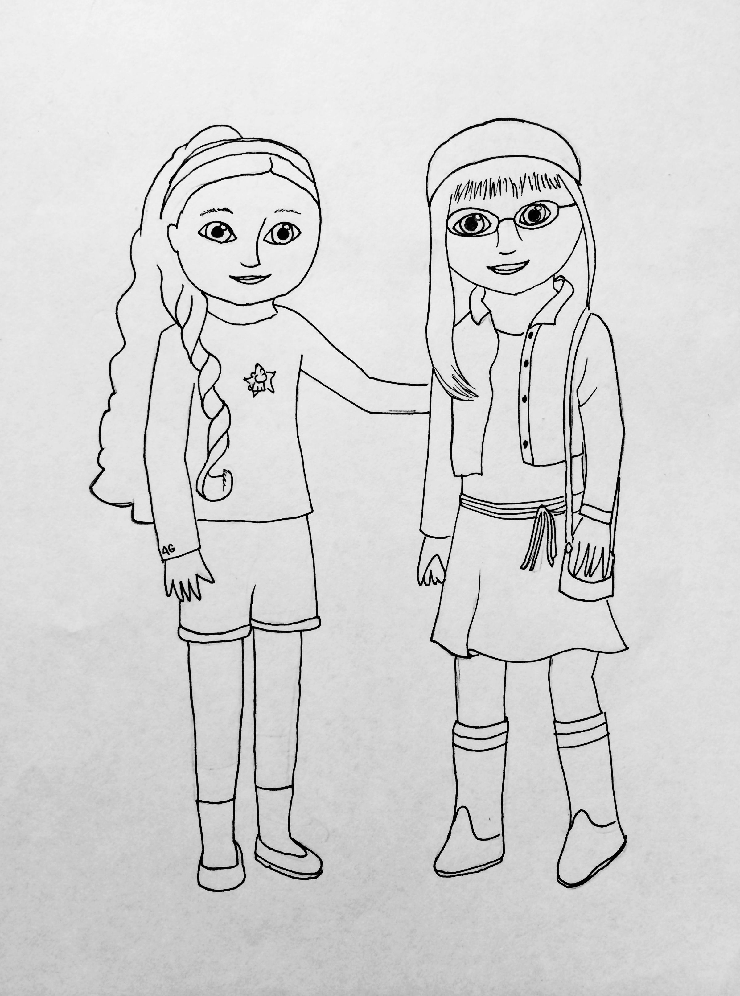 Coloring Pages: American Girl Mckenna Coloring Page Free Printable ...