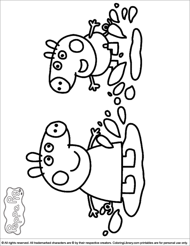Free Peppa Pig Coloring Pages - Coloring Home