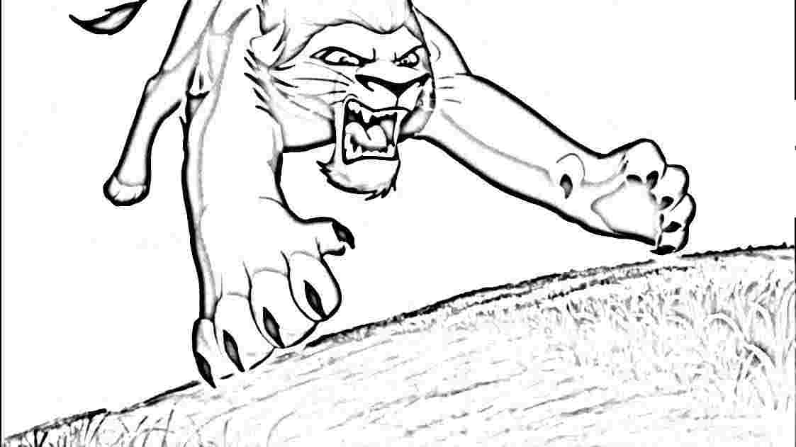 kiara and kovu coloring pages