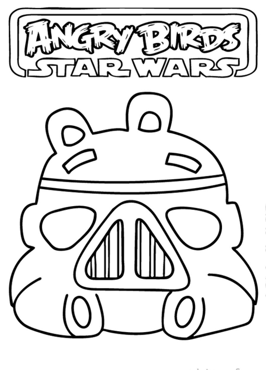 Angry Birds Star Wars 2 Coloring Pages Printable