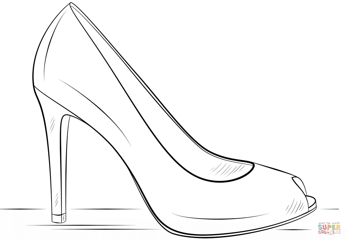 Shoes Coloring Pages Print Coloring Home