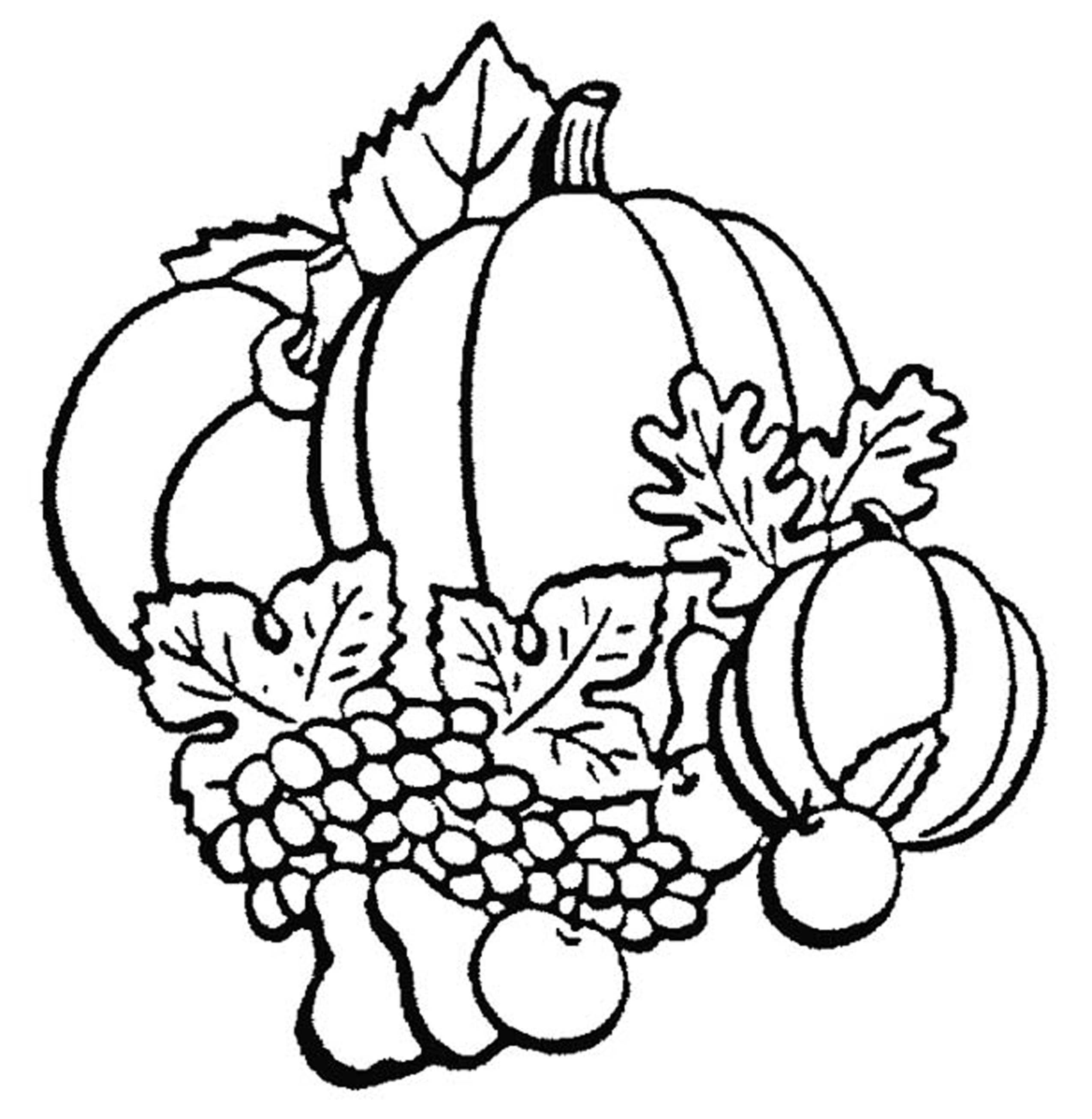 fall coloring pages printables - Printable Kids Colouring Pages