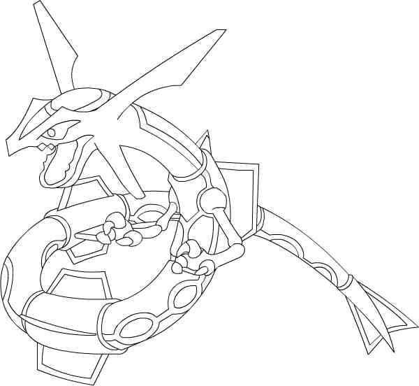 11 Images Of Mega Pokemon Rayquaza Coloring Pages Pokemon