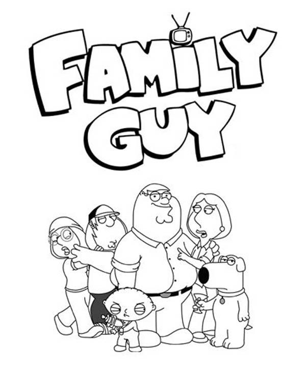 Family Guy Coloring Pages Stewie