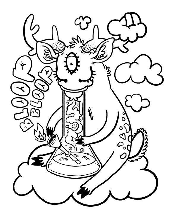 stoner trippy weed coloring pages - photo#25