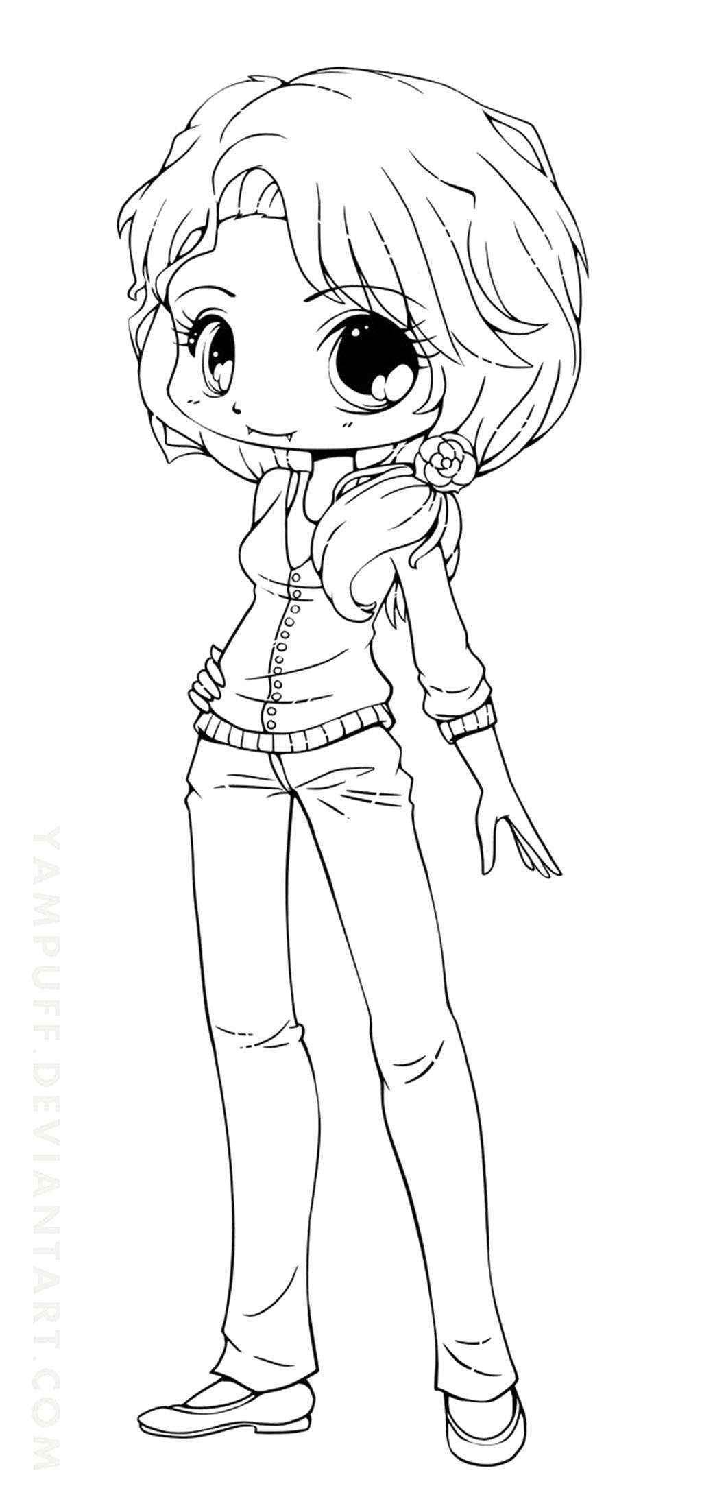 Cute Girls Coloring Pages - Coloring Home