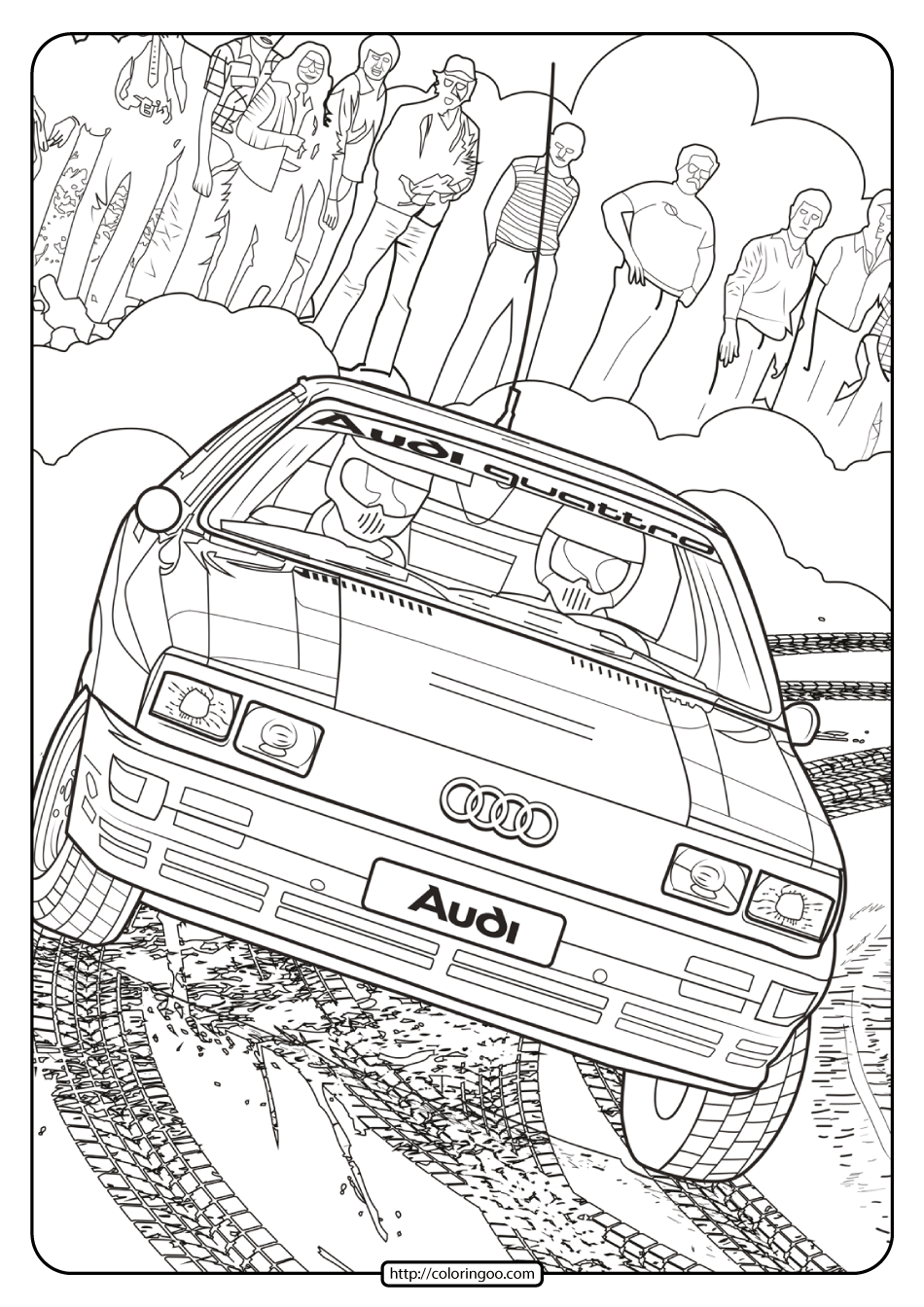 Printable Audi Cars Coloring Book & Page – 09