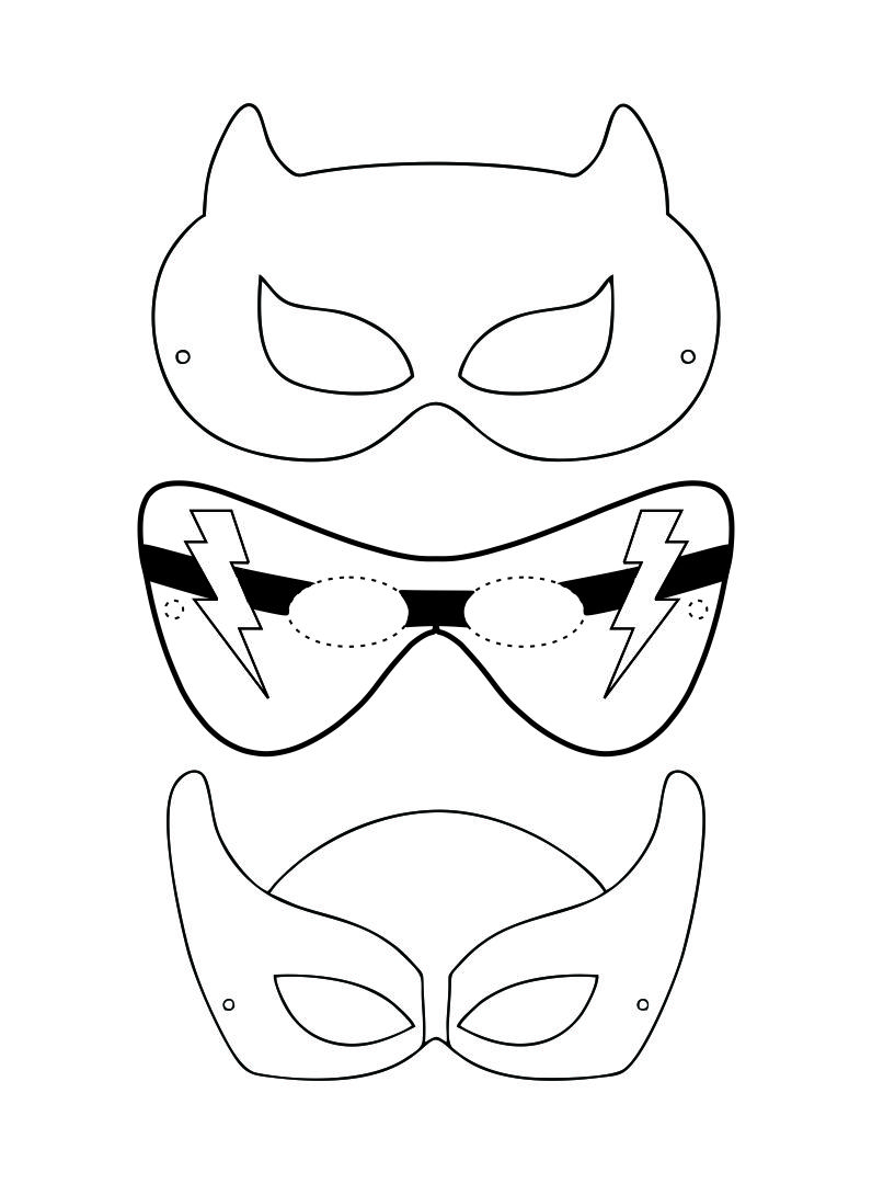Superhero Masks Coloring Pages - Coloring Home