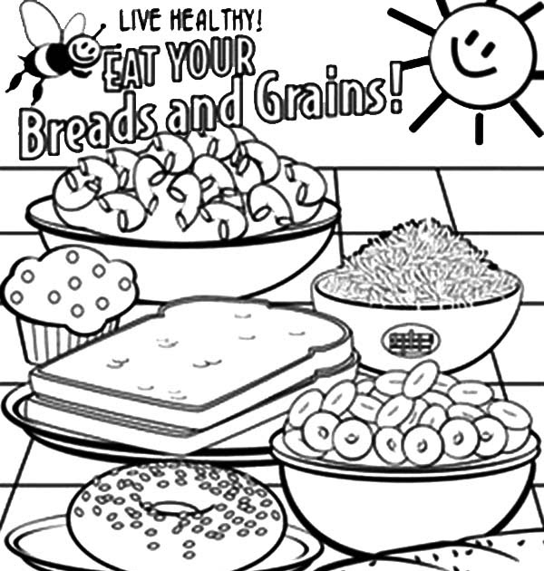 Breads And Grains Free Coloring Pagesbsaffunktaking.blogspot.com