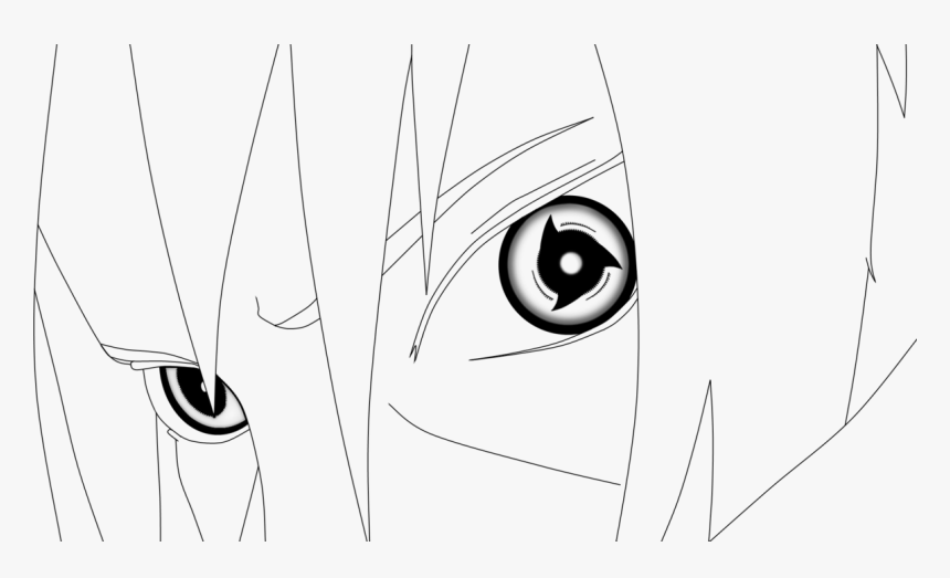 Cartoon , Png Download - Coloring Page Naruto Itachi Mangekyou Sharingan,  Transparent Png - kindpng