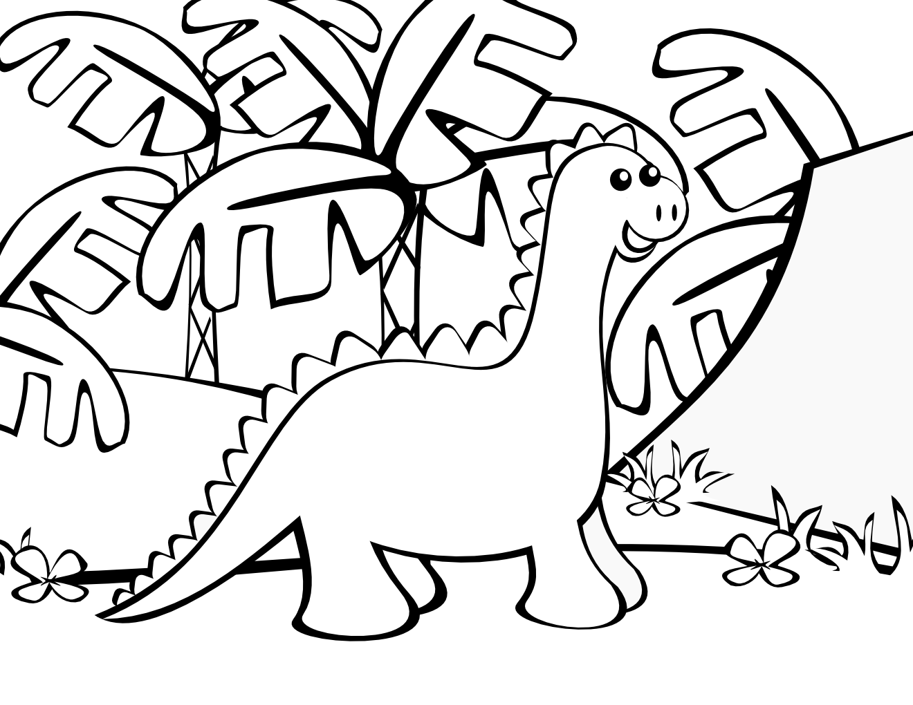 Cute Dinosaur Coloring Pages For Kids - AZ Coloring Pages