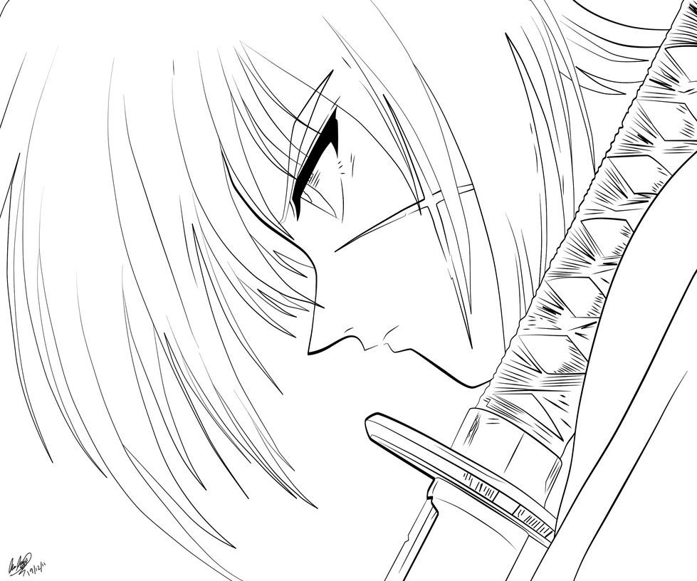 coloring pages for rurouni kenshin - photo#2