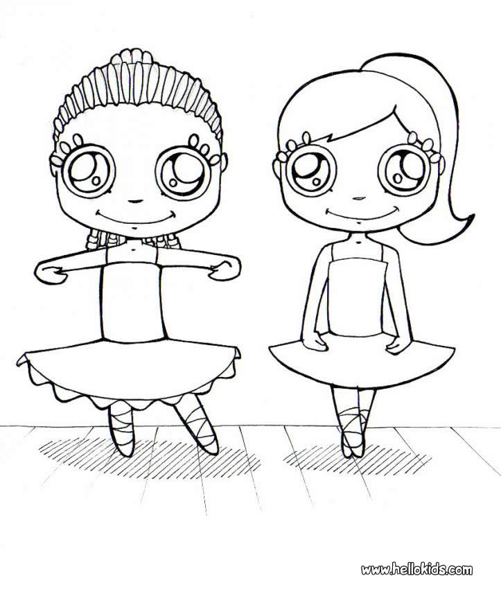 Ballet Dancer + Coloring Page - Coloring Home