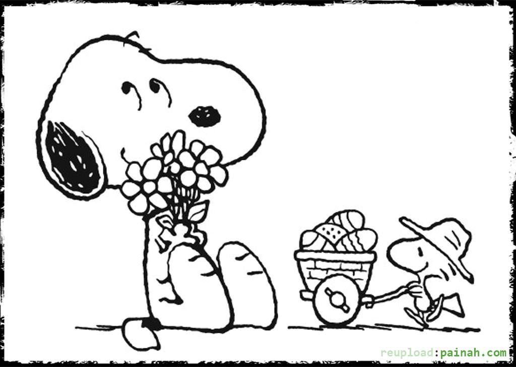woodstock and snoopy coloring pages - photo#33