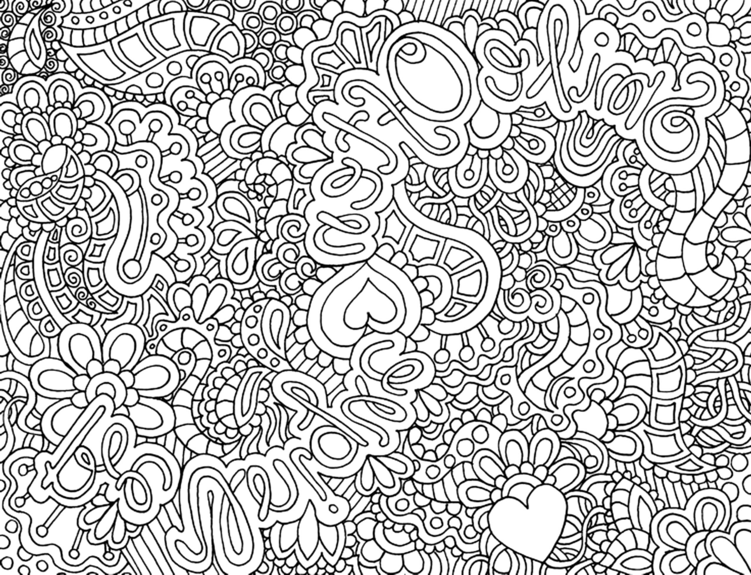 Complex Flower Coloring Pages for Adults - Printable Kids ...