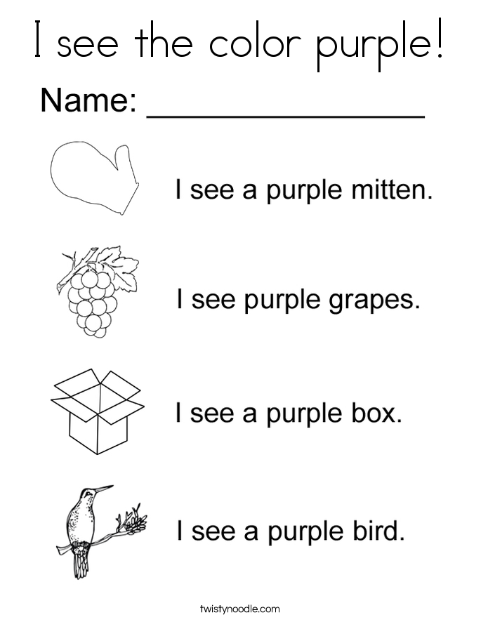 purple coloring pages - photo#35