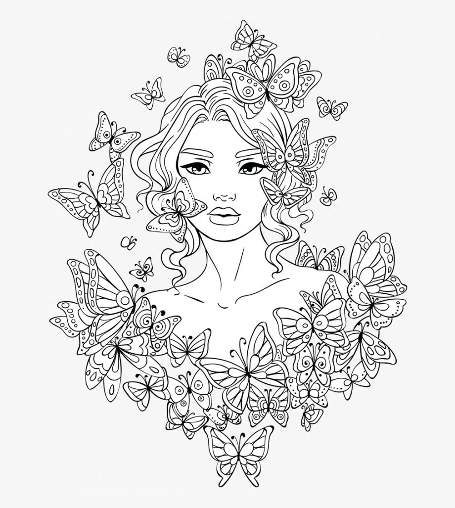 Medium Size Of Coloring Page Woman Colouring Pages For Adults Coloring Home