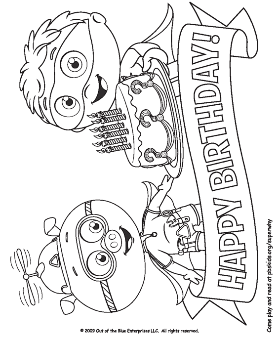 super why readers coloring pages - photo#21