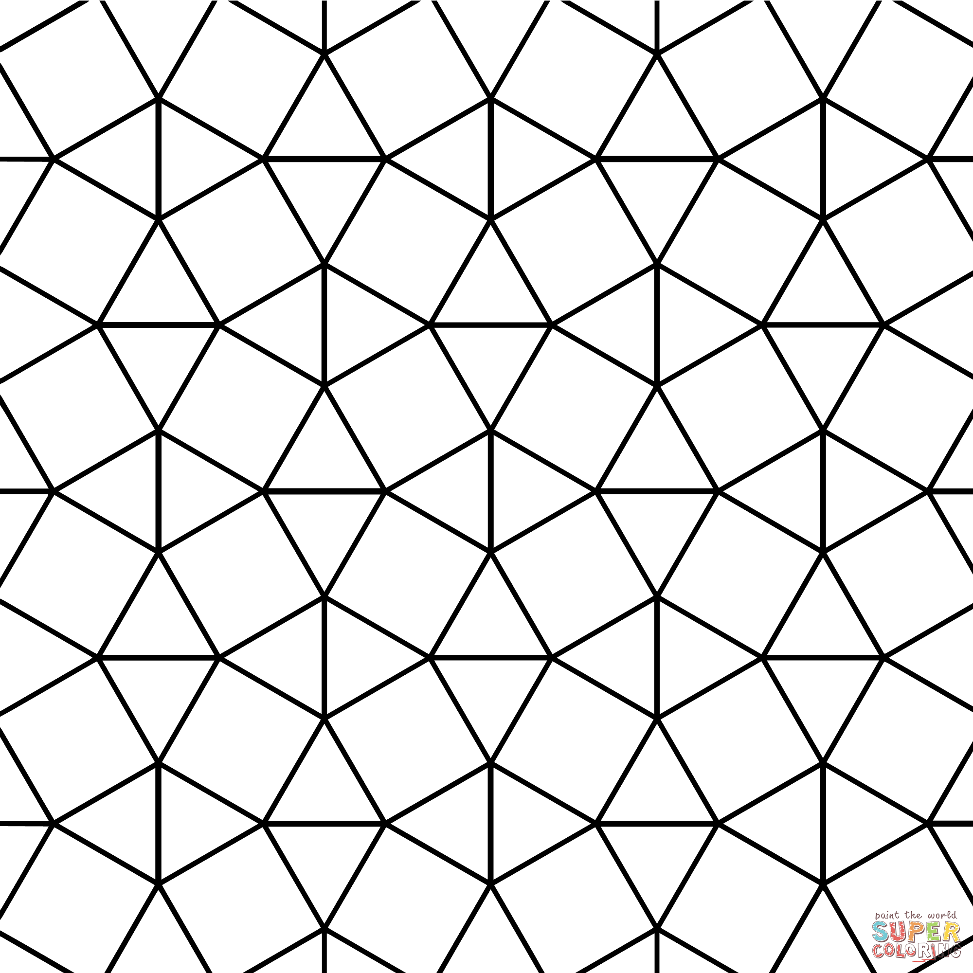 Tessellation Coloring Pages