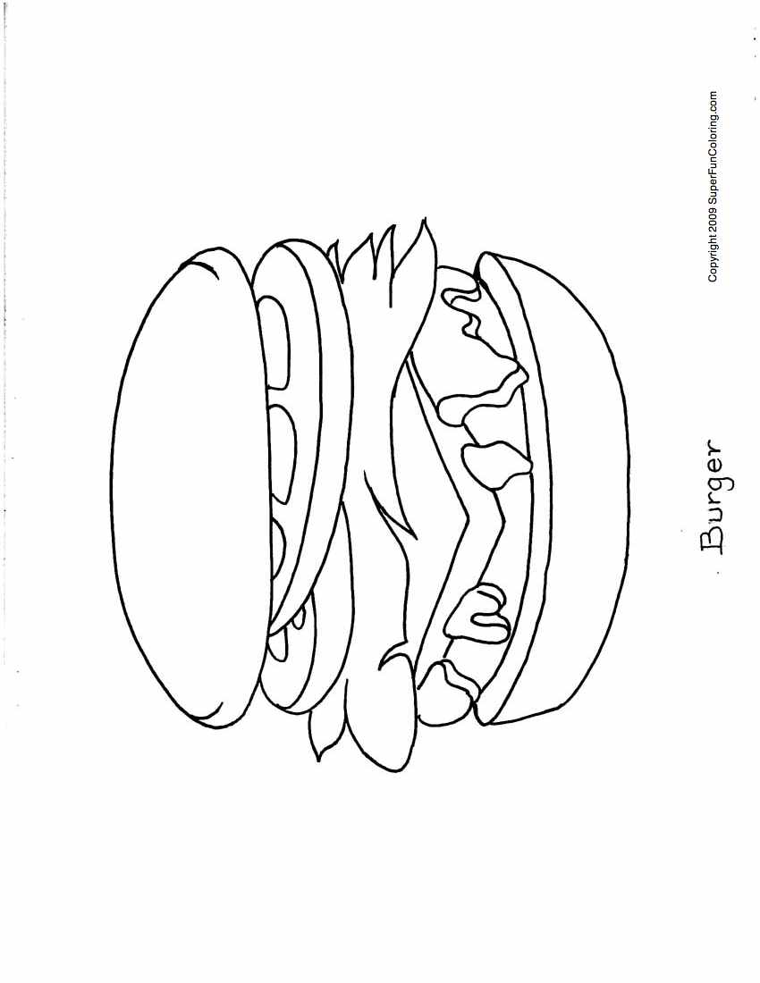Hamburger Coloring Pages Coloring