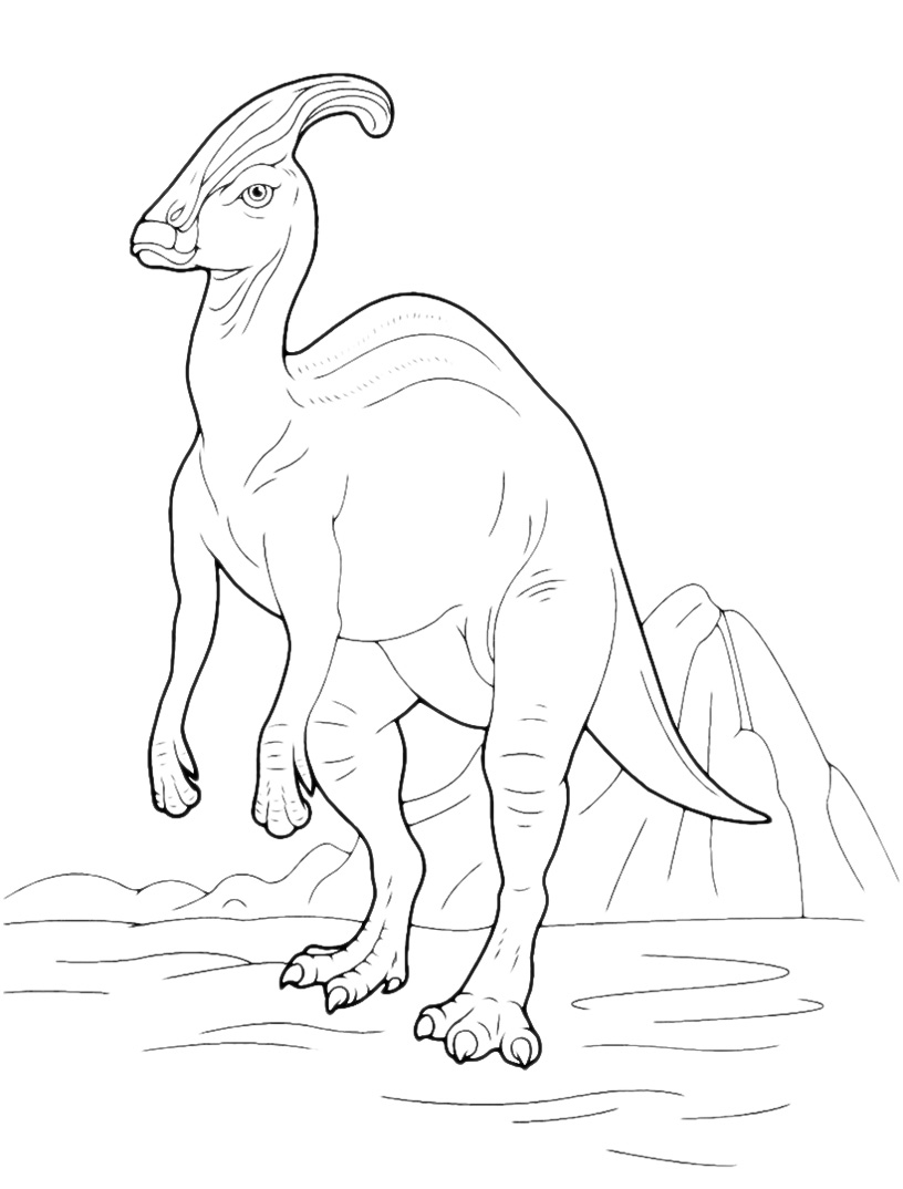 Parasaurolophus Coloring Page  Coloring Home