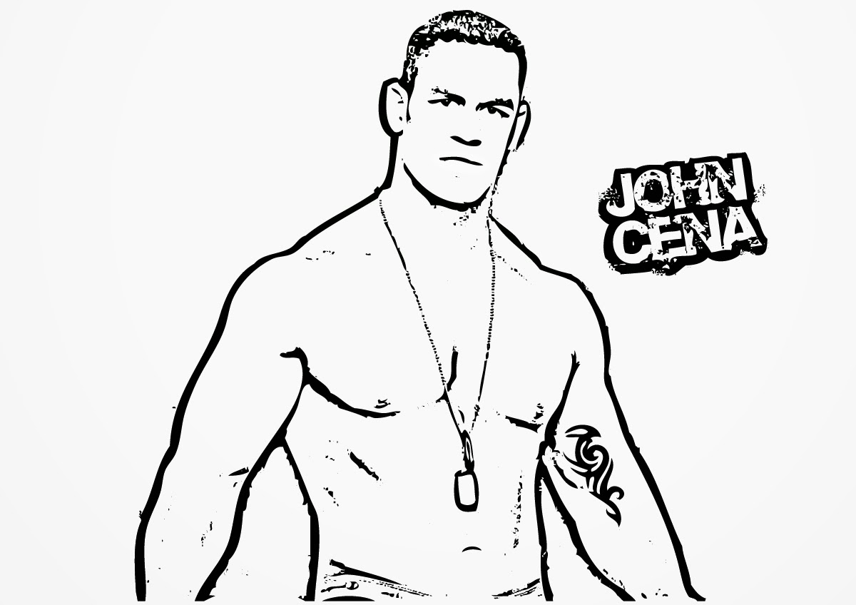 john cena coloring pages printable coloring home. Black Bedroom Furniture Sets. Home Design Ideas