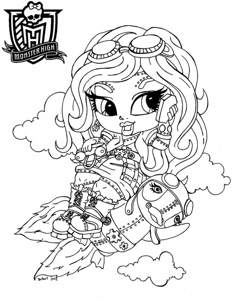 Free Color Monster High, Download Free Clip Art, Free Clip Art on ... | 1024x814