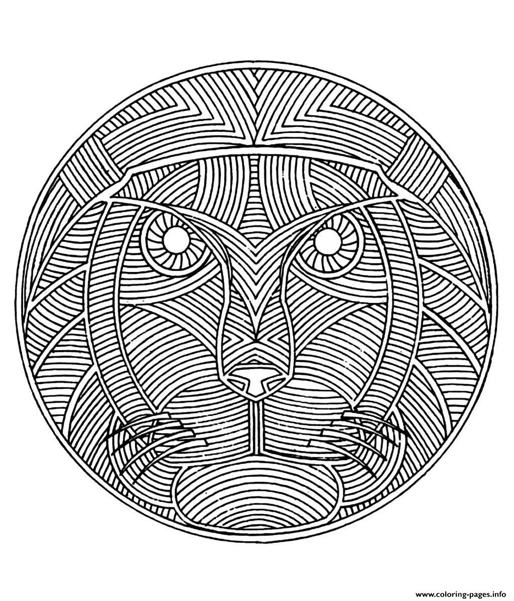 Difficult Coloring Page Mandala - Coloring Home