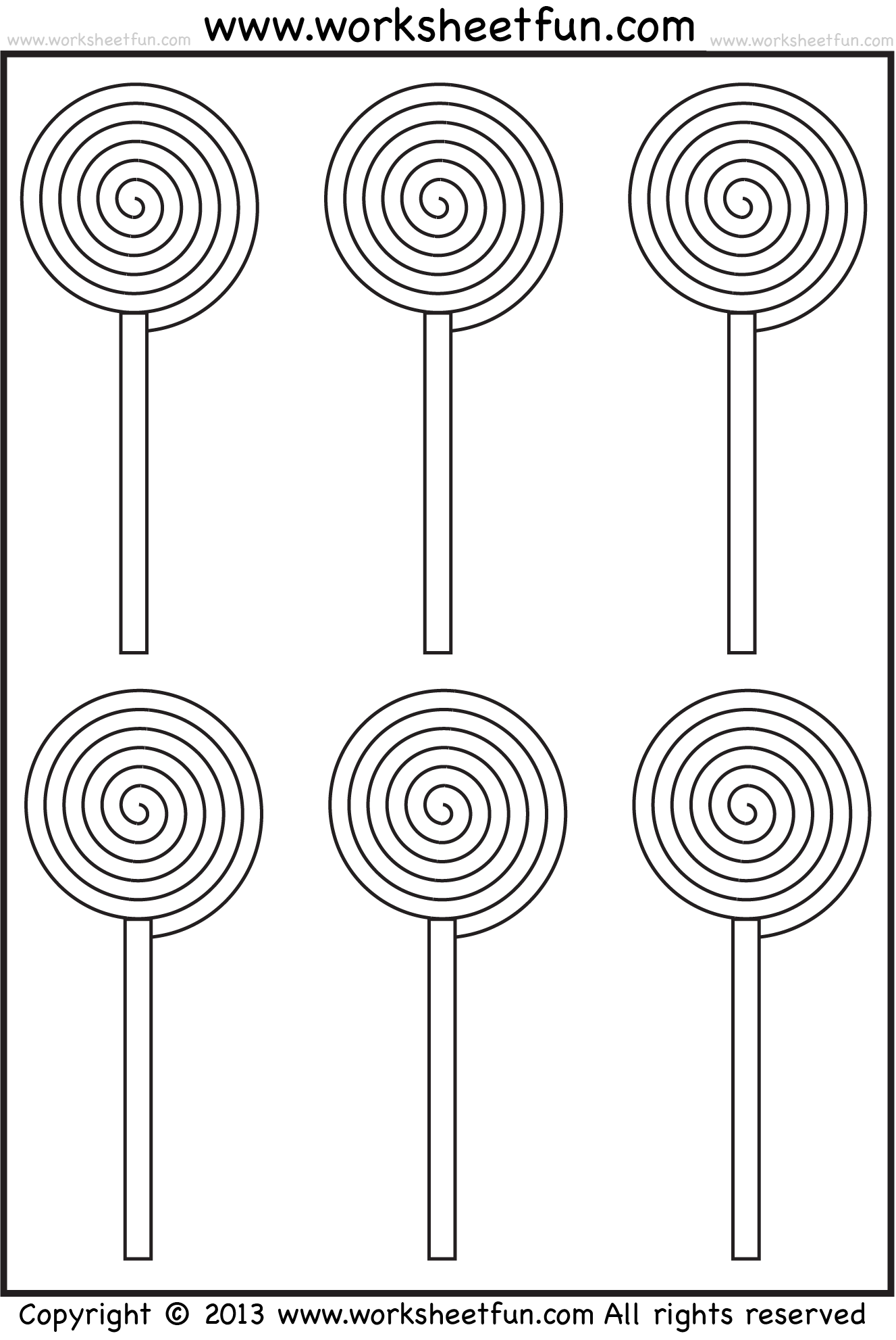 Lollipop Coloring Page Coloring
