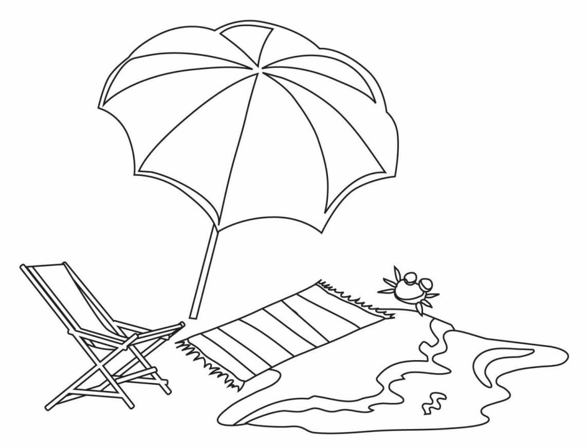 Coloring Pages Of A Beach Umbrella - Coloring Home