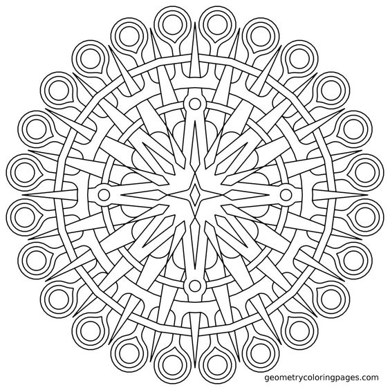 Coloring Pages For Anxiety Free Large Mandala Coloring Page