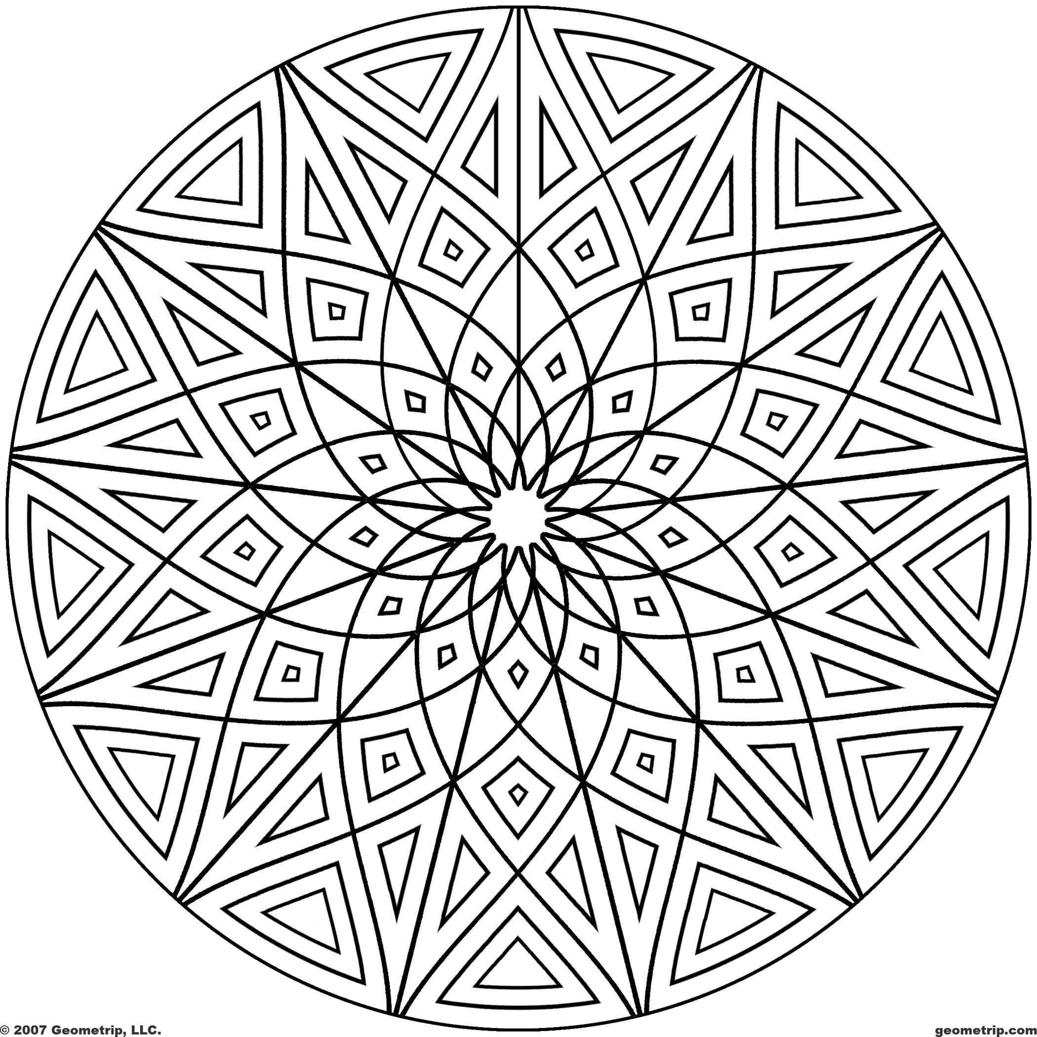 Geometric Design Coloring Pages Printable Coloring Coloring Pages