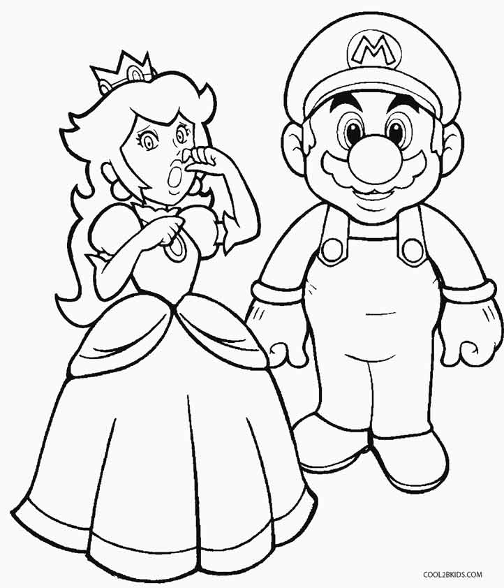 Kleurplaten Mario En Peach.Mario And Peach Coloring Pages Coloring Home