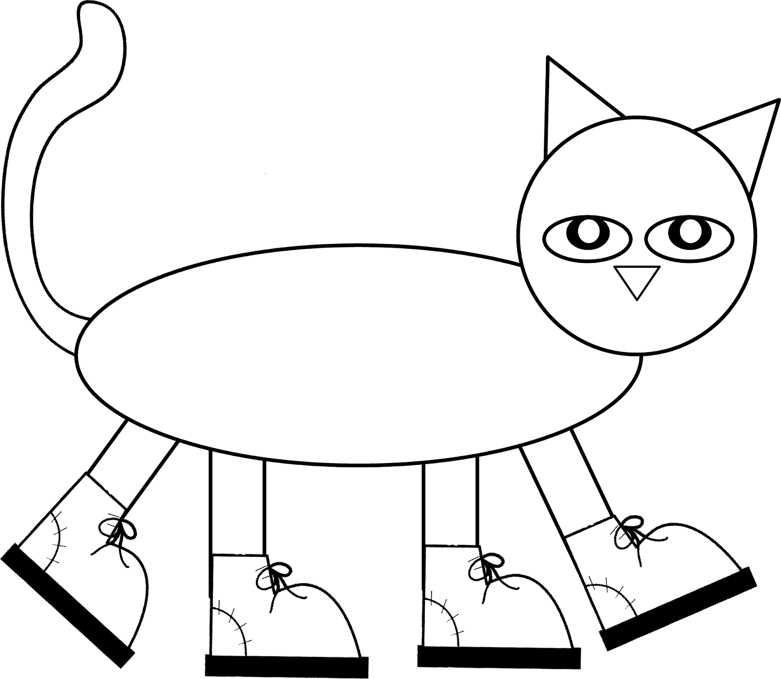 pete the cat coloring page - free pete the cat coloring page az coloring pages