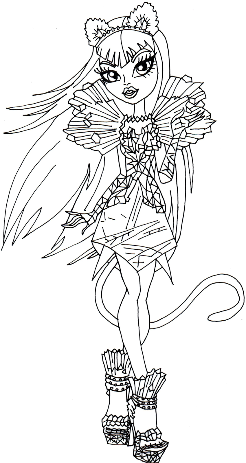 Coloring Pages: Free Printable Monster High Coloring Pages Catty ...