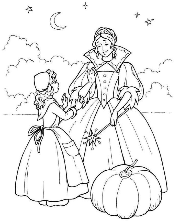 Free Fairy Tale Coloring Pages | Coloring Pages | Pinterest ...