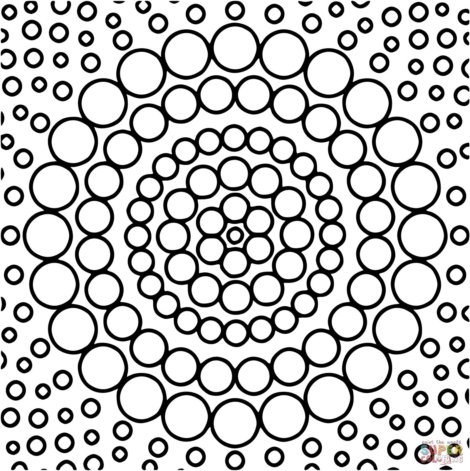 Circles Coloring Page Coloring