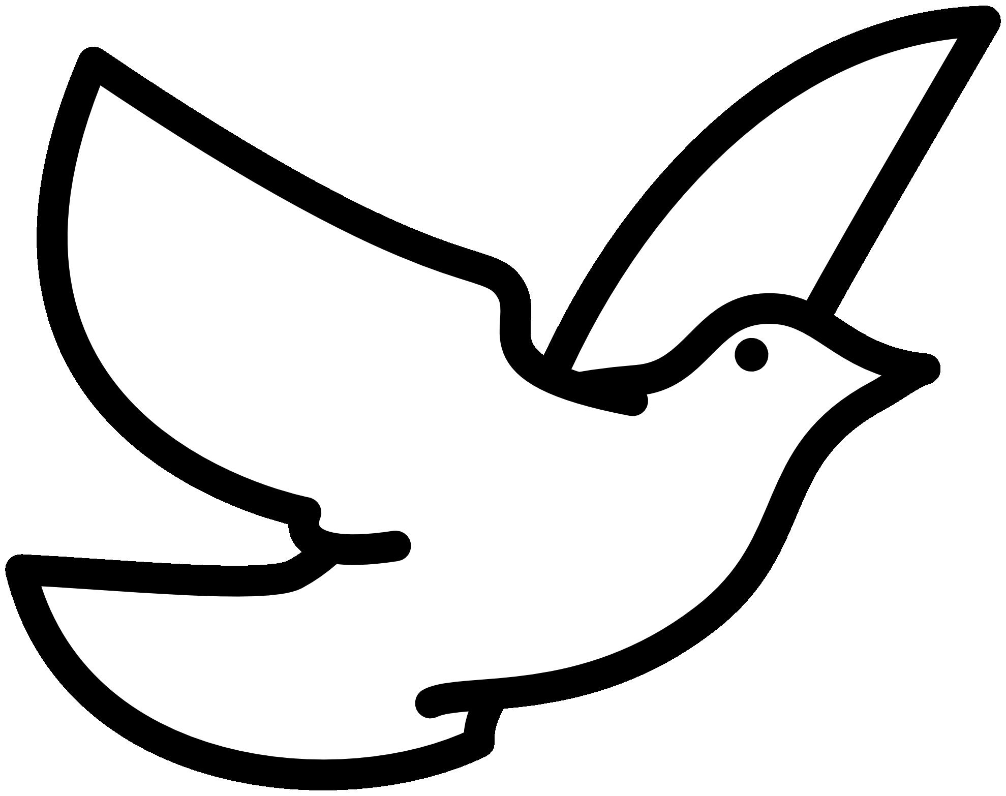 White Dove Coloring Page