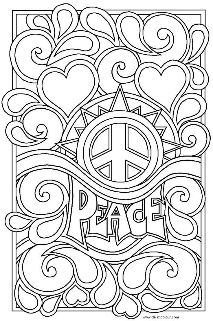 Difficult Printable Coloring Pages For Teens | Coloring Online