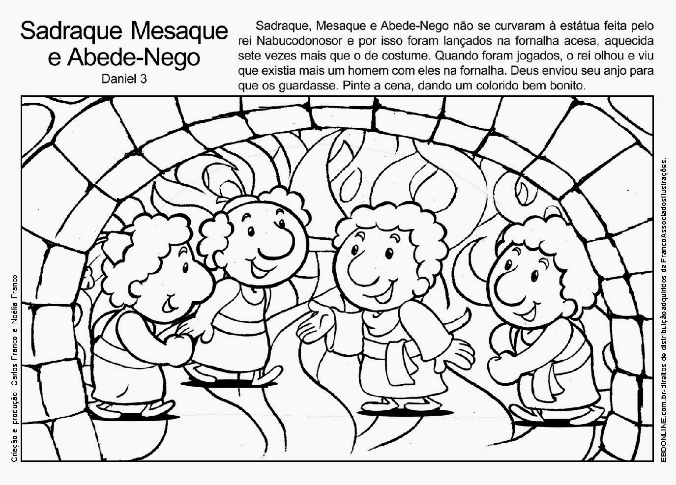 coloring pages meshach abendego - photo#20
