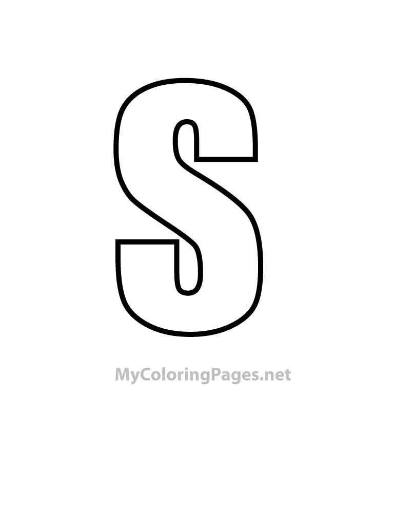 Coloring Pages Letter S Coloring Home