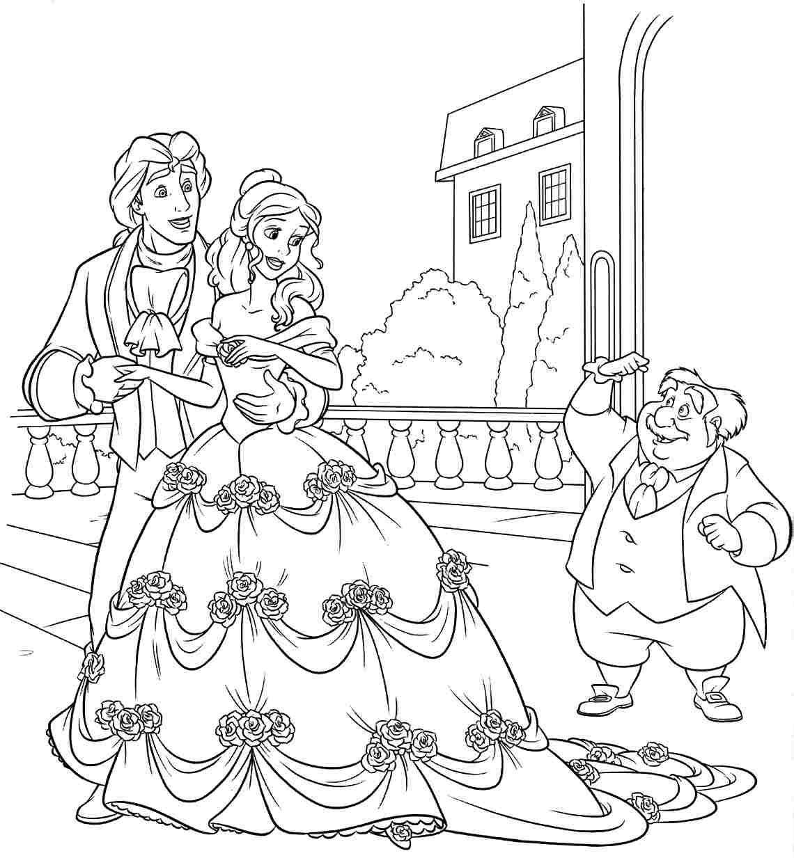 Beauty And The Beast Coloring Pages | Forcoloringpages.com ...