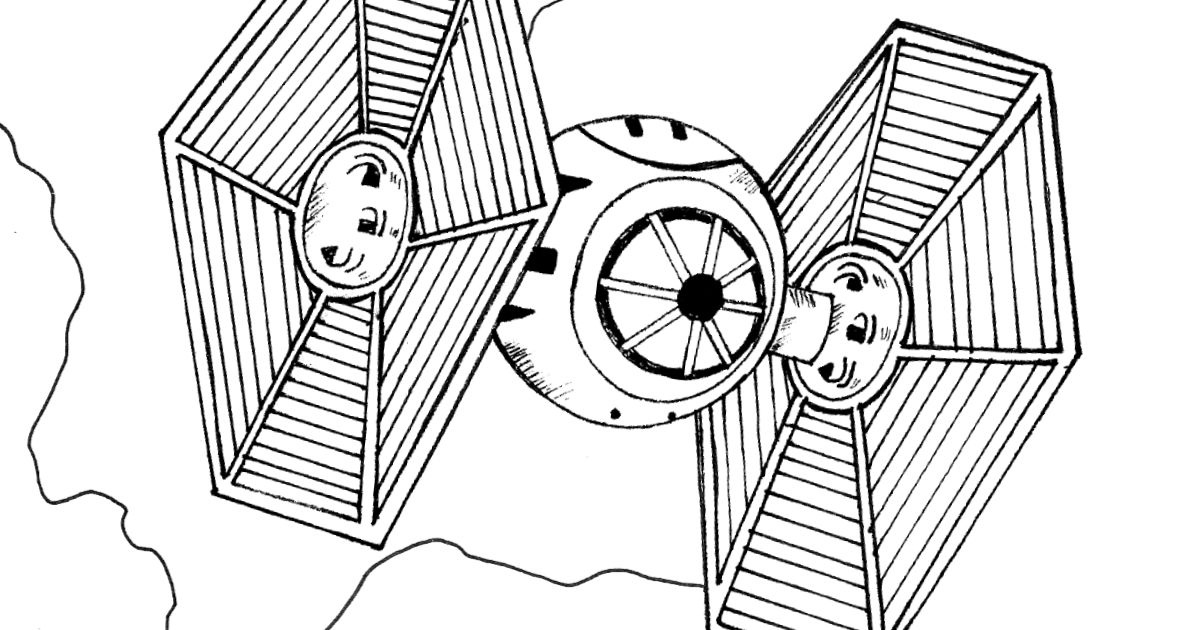 Star Wars TIE Fighter Coloring Pages (Page 1) - Line.17QQ.com