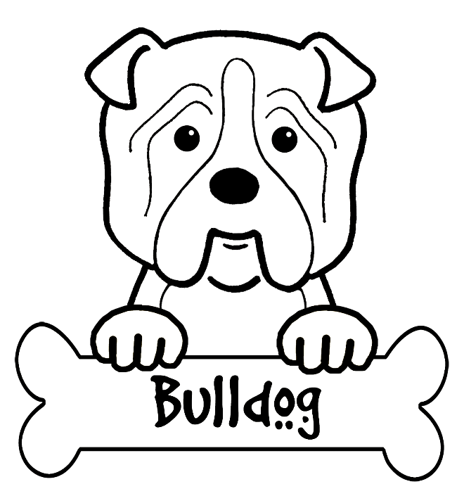 Bulldog coloring pictures coloring home for Free printable bulldog coloring page