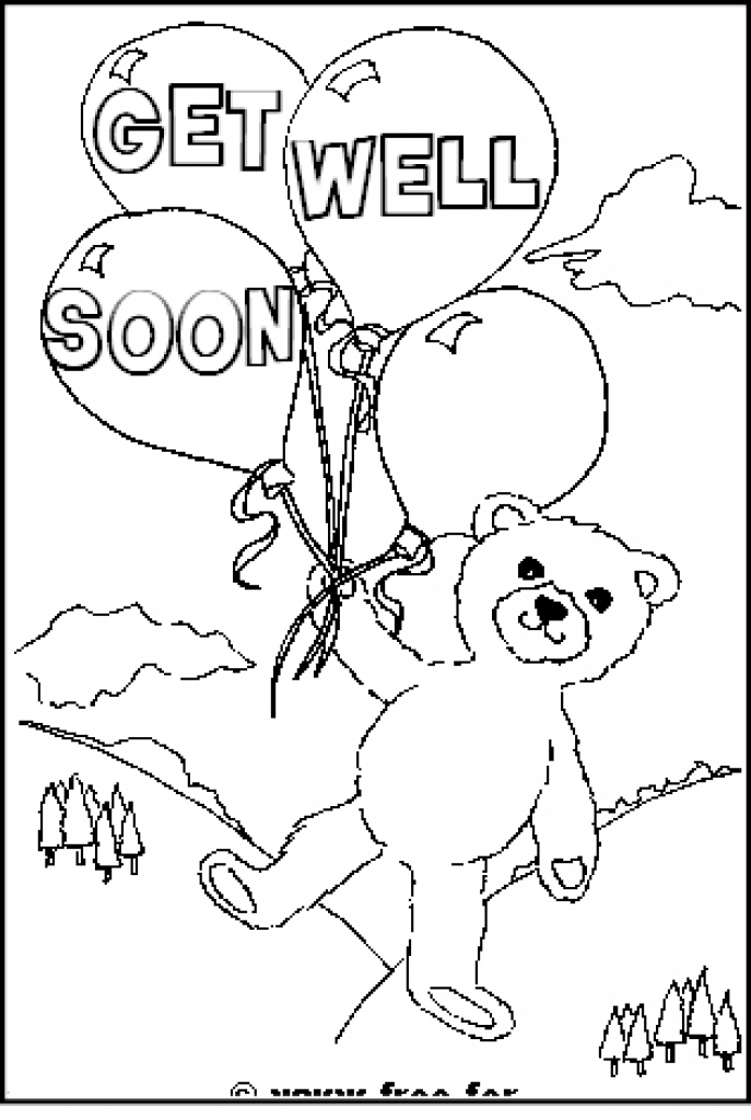 kids get well coloring pages - photo#28