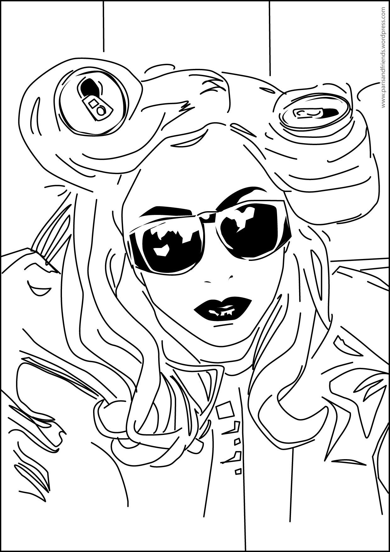 Album Lady Gaga coloring pages | Color Printing|Sonic coloring ...