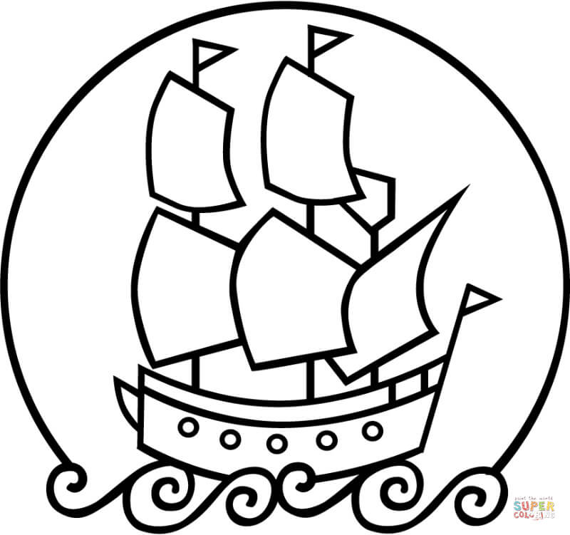 mayflower boat coloring pages - photo#28