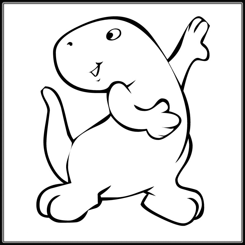Cute Dinosaur Coloring Pages - Coloring Home